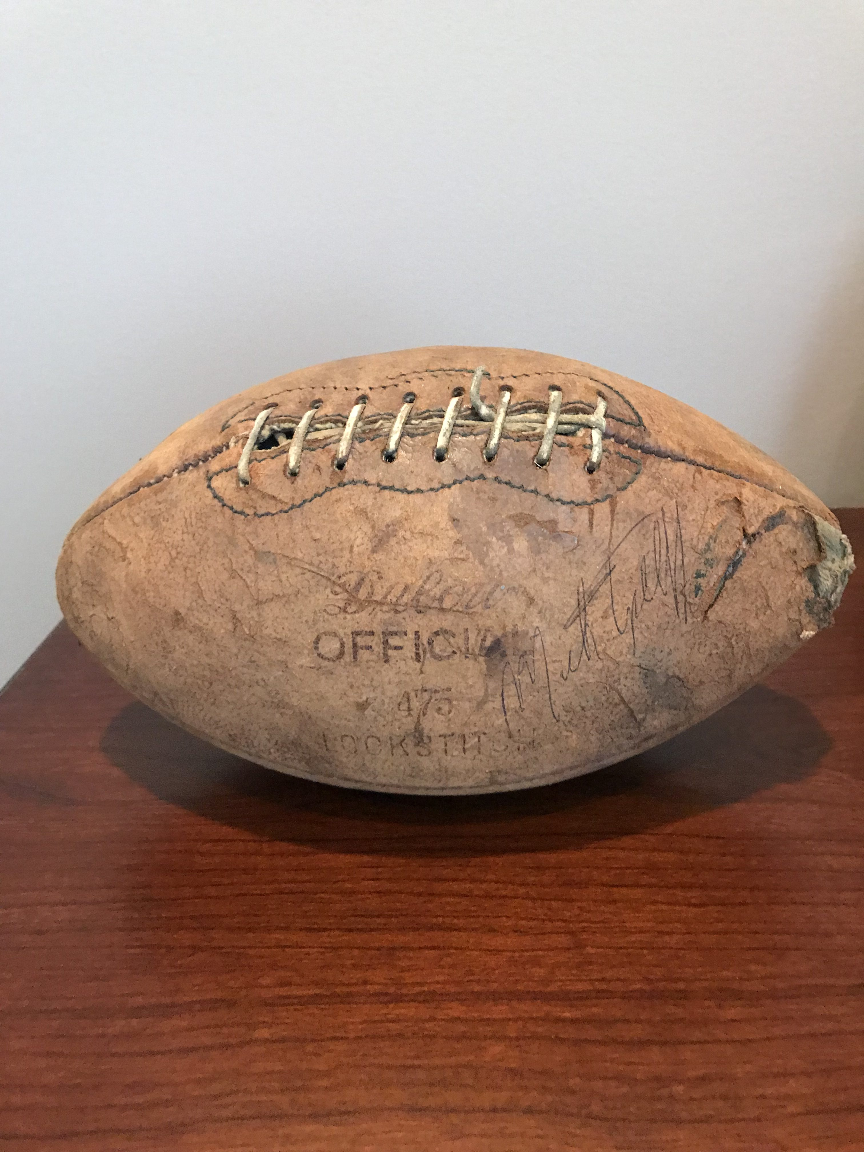 Vintage Minnesota Vikings signed football